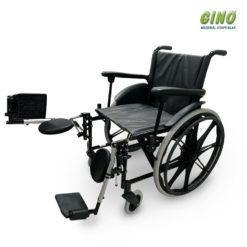 Aluguel Cadeira de rodas Ágile com elevação das Pernas-120kg